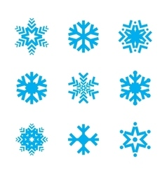 Snowflake icon set isolated on white background vector