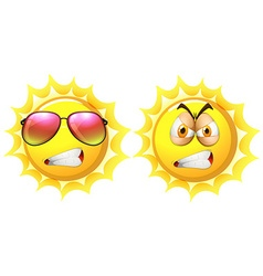 Sun with angry face vector