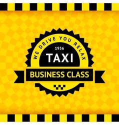 Taxi symbol with checkered background - 21 vector image vector image