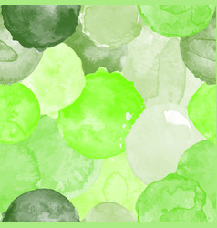 Watercolor green seamless pattern vector