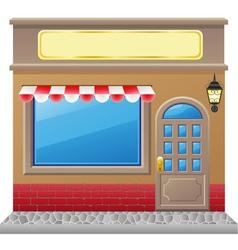 shop facade 01 vector image