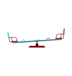 Swing balancer icon cartoon style vector