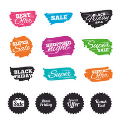 Sale icons special offer symbols vector