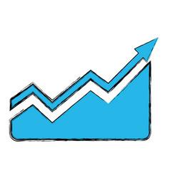 Statistics growing graphic vector