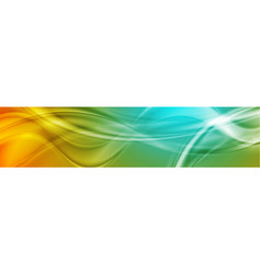 Abstract shiny bright wavy banner design vector
