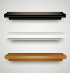 Modern shelves vector