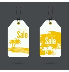 Set price tag with ribbons and labels vector