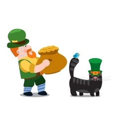 The man with a pot of gold st patrick day vector