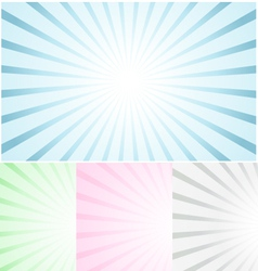 Pastel abstract rays vector