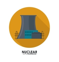 Nuclear design danger and industry concept vector