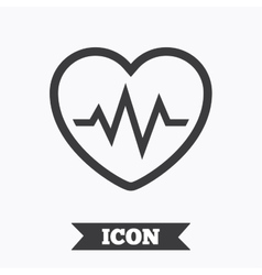 Heartbeat sign icon cardiogram symbol vector