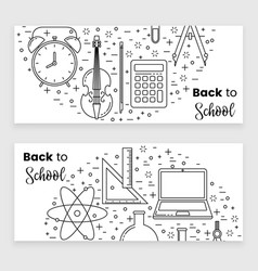 back to school banner concept vector image