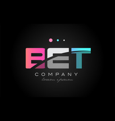 Bet b e t three letter logo icon design vector