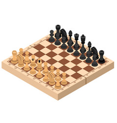 chess isometric view vector image
