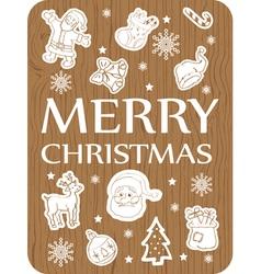 Christmas card wood vector