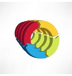 circular arrows icon vector image vector image