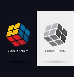 Cube box sign vector