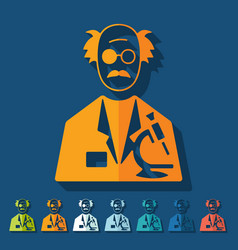 Flat design scientist vector