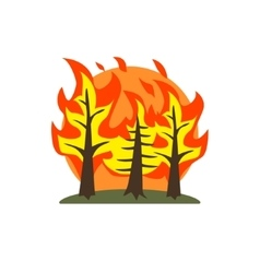 Forest fire natural force sticker vector