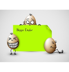 Funny easter card with eggs vector image vector image