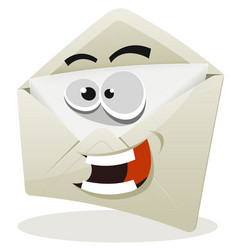 Funny email icon character vector
