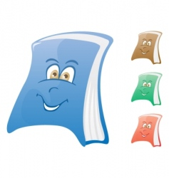 Happy book vector