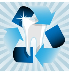 healthy tooth vector image