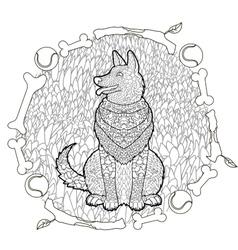 High detail patterned german shepherd vector