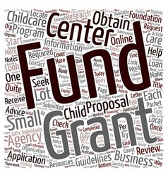 How to obtain grants for your child day care vector