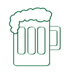 isolated beer mug outline vector image vector image