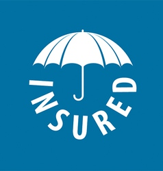 Logo under the protection umbrella vector