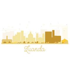 luanda city skyline golden silhouette vector image vector image
