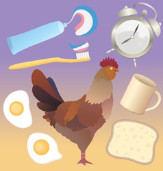 Morning breakfast pack vector image