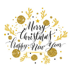 new year lettering hand drawn christmas greeting vector image vector image