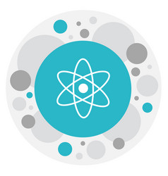 Of knowledge symbol on atom vector