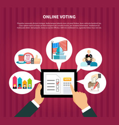 online voting in elections vector image