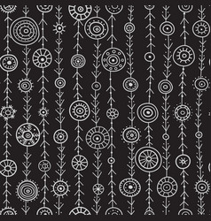 ornamental circles on lines seamless pattern vector image vector image