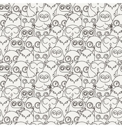 Random owls seamless pattern Cute nignht birds For vector image vector image