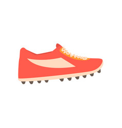 red spiked football shoe cartoon vector image