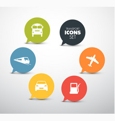 set of round flat transport pointers vector image vector image