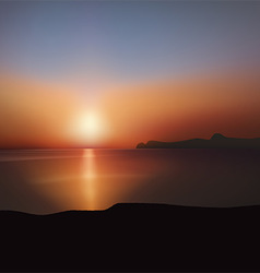 Sunset over sea vector image