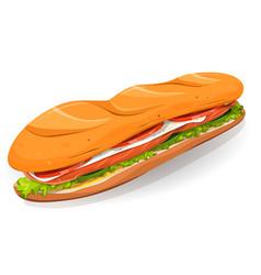 Swedish sandwich with salmon fish fresh cheese vector