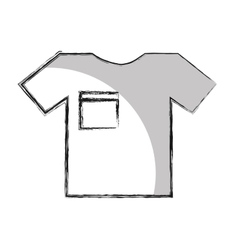 T-shirt clothes isolated icon vector