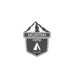 Vintage travel mountain camping badge outdoor vector