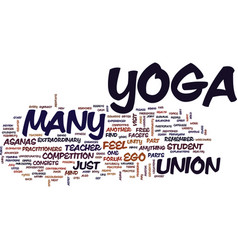 Yoga is unity text background word cloud concept vector