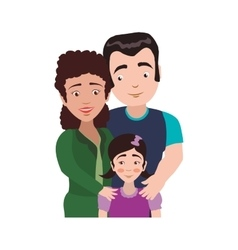 Family girl couple parents mothers father icon vector