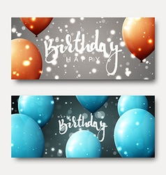 Happy birthday calligraphic inscription with vector image