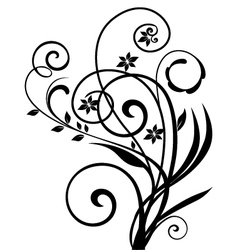 Floral ornament vintage vector