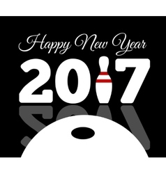 Congratulations to the happy new 2017 year with a vector