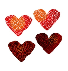 Abstract broken heart symbol red hot love passion vector